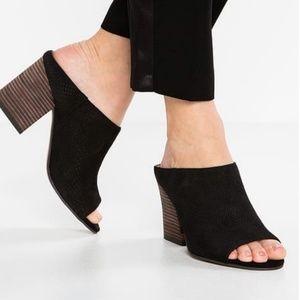 Franco Sarto Firedly Heeled Black Sandal Size 7.5